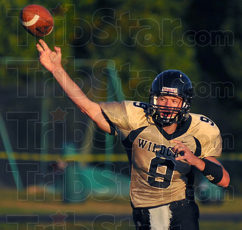 On target: Wildcat quarterback Andy Walsh throws early in their game with West Vigo.