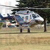 Landing zone: A Lifeline helicopter lands at the Vigo Co. Fairgrounds Saturday morning to participate in the Kid's Day event.