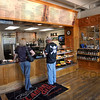 Morning joe: Visitors to the Clabber Girl Bake Shop at ninth and Wabash order coffee Wednesday morning.