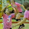 All set: Lady Brave Larina Coutino was the prime mover in setting up the North-South volleyball match as a benefit for the Union Hospital NICU.