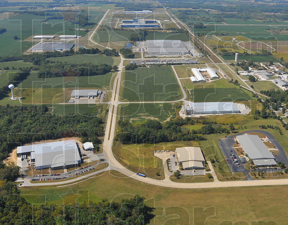 Industrial: The Vigo County Industrial Park, seen from the east.