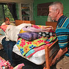 Tribune-Star/Joseph C. Garza<br /> Bringing back memories: 1981 Rose-Hulman graduate Art Schultz of Powell, Ohio, helps his daughter, Maggie Schultz, 18, move furniture in her dorm room in BSB Hall which happened to be the same dorm room he had in 1977 when he was a freshman Friday, Aug. 28 at Rose-Hulman.