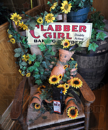 Hulman Co.: A Clabber Girl display meets visitors to the Hulman Co. coffee shop on north ninth street.