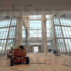 Progress: Interior of the main lobby of the new Union Hospital under construction.