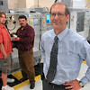 Tribune-Star/Joseph C. Garza<br /> New possibilities: Ivy Tech Community College Chancellor Jeff Pittman is excited about the new programs the institution is now offering which include advanced manufacturing. Here, Pittman stands in the advanced manufacturing lab Wednesday with student Ryan Smart and department chair, Rick Willey.