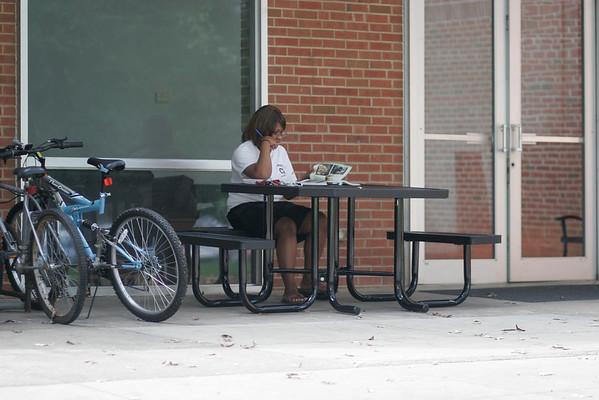 Kimberly Johnson Studying on a nice sunny Day