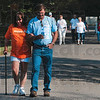 Tribune-Star/Joseph C. Garza<br /> Third year for them: MS Walk veterans Kathy and Vern Hedden walk one of the routes at St. Mary-of-the-Woods Saturday. This year's MS Walk was the third walk for the two.