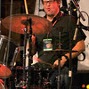 Keeping time: Guy Forsyth Band drummer Rob Hooper gets into the song Saturday night.