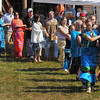 Round and round: A couples two-step dance begins at the Native American Pow Wow Saturday afternoon.