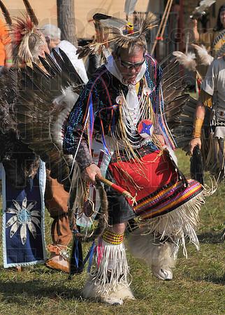 Man dancer: Roger Bull of Kalamazoo Michigan takes part in the dancing Saturday at the Vigo County Conservation Club.