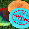 Frisbee: Detail of frisbees.
