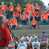Tribune-Star/Joseph C. Garza<br /> United: Workers United President Bruce Raynor addresses fellow members and other supporters about the union's recent strike at Bemis Monday at Fairbanks Park.