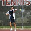 Return: Terre Haute North's Nick Roby returns service during Tuesday's match against South.