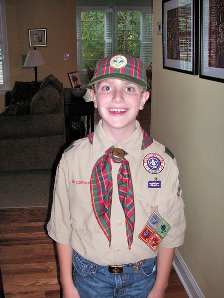 Anthony moves up to Webelos