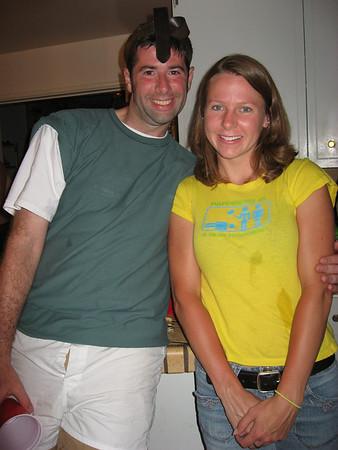John as quailman with Suzanne (my neighbor)