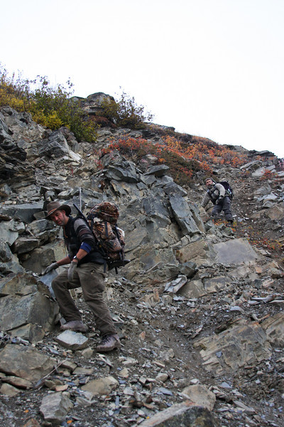 Descent is just as much struggle as going up, with a considerably larger amount of gear weighing us down.