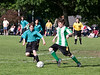 Simon going for the ball, Sam and Peter in the background