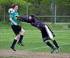Sam fails to block goalie throw