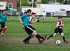 Alex kicks the ball, Grant to the left