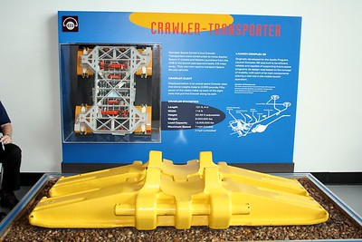 A cleat from the Crawler-Transporter, first built to transport the Saturn V rocket and now used to transport the Space Shuttle