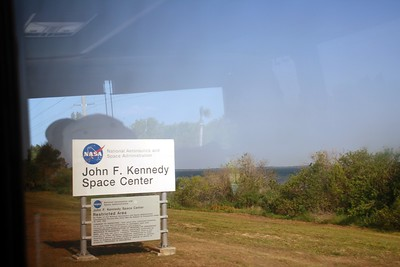 Sign for the John F. Kennedy Space Center