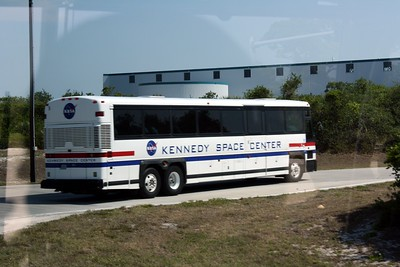 One of the VIP shuttle buses at the Kennedy Space Center