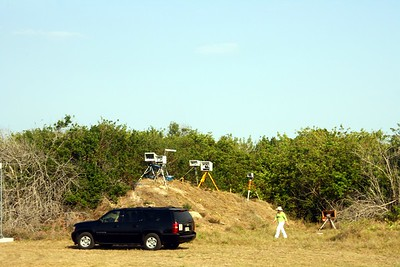 Photographers set up remote cameras to capture the launch.  The cameras are triggered by the sound of the launch.