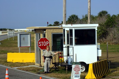 Security checkpoint on the way to Launch Pad 39-A