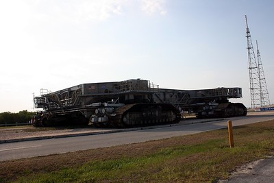 The Crawler-Transporter, used to transport the Space Shuttle between Launch Pad 39-B and the Vehicle Assembly Building (VAB)