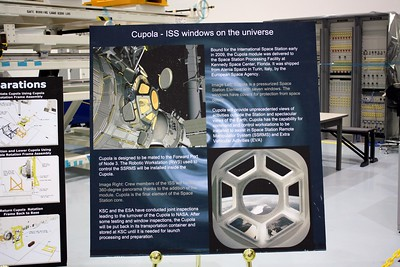 Poster for Cupola, the observation module built by the European Space Agency for the International Space Station