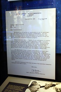 Letter advising Gus Grissom of his invitation to the second phase of the astronaut selection process