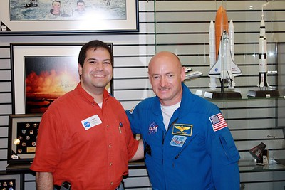 Craig with astronaut Mark Kelly, who has flown on two Space Shuttle missions.  He is the only astronaut who is married to a member of Congress.