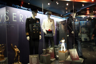 Military uniforms worn by former astronauts