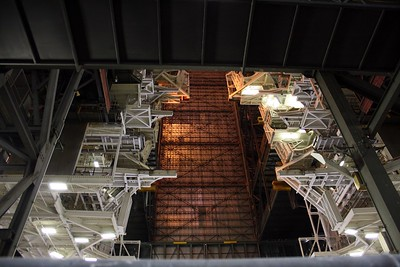 Inside the the Vehicle Assembly Building