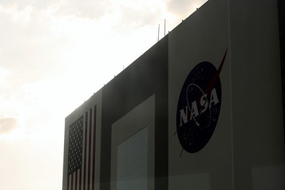 The top of the the Vehicle Assembly Building