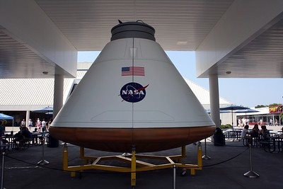 A mockup of the Orion capsule, the successor to the Space Shuttle for human spaceflight