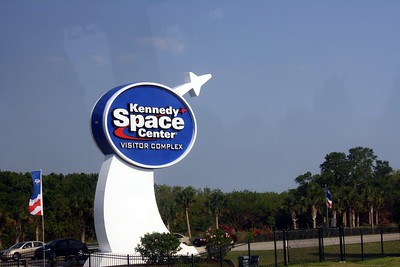 Entrance to the Kennedy Space Center Visitor Complex