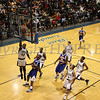 Newburgh Free Academy's Octavius Fraser (#42) puts up two points during the Boys Varsity Basketball game against Bishop Maginn on Saturday, January 3, 2009 at Mount Saint Mary College in Newburgh, NY. The NFA Goldbacks were victorious over the Griffins, with the final score 71-56.