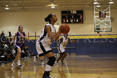 Newburgh Free Academy's Christine Clyburn shoots a two pointer against Monroe Woodbury on Friday, January 9, 2009 at Newburgh Free Academy in Newburgh, NY. Monroe Woodbury defeated NFA, 50-37