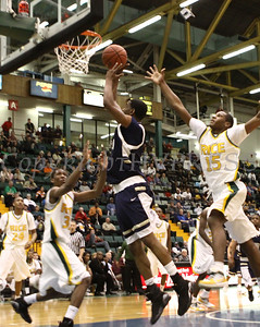Newburgh Free Academy was defeated by Rice, 70-68 in overtime, for the state Class AA boys' basketball federation championship, Sunday, March 29, 2009 at the Glens Falls Civic Center in Glens Falls, New York.