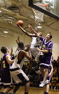 Newburgh Free Academy Boys Varsity Basketball hosted Warwick on Friday, January 20, 2009 at Newburgh Free Academy in Newburgh, NY. NFA defeated Warwick 91-50. NFA's Damon Cousar (#5).