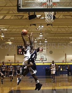 Newburgh Free Academy Boys Varsity Basketball hosted Pine Bush on Tuesday, January 10, 2009 at Newburgh Free Academy in Newburgh, NY. NFA defeated Pine Bush 71-51. NFA's Myron Johnson (#23) shoots over Pine Bush's Greston Gill (#11).