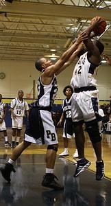 Newburgh Free Academy Boys Varsity Basketball hosted Pine Bush on Tuesday, January 10, 2009 at Newburgh Free Academy in Newburgh, NY. NFA defeated Pine Bush 71-51. NFA's Octavius Fraser (#42) shoots over Pine Bush's Kyni Scott (#23).