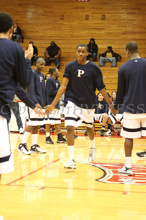 The Poughkeepsie High School Varsity Basketball team is introduced prior to the game against Newburgh Free Academy on Saturday, January 10, 2009 at Marist College in Poughkeepsie, NY. Poughkeepsie defeated NFA 74-70.