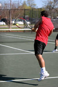 Tennis matches taking place; April 2009.
