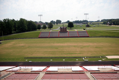 Photos of Belk Track around the football field at Spangler Stadium; June 2009.