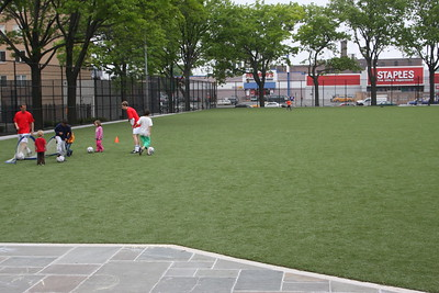 Here's the new astro-turf behind the Old Stone House!