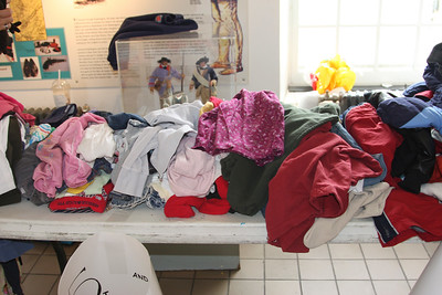 Lots of Clothes at the Clothing Swap