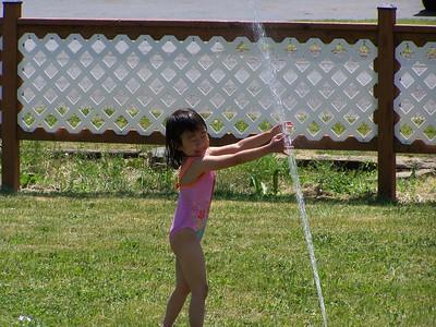 Sprinkler Fun and Bike Fun