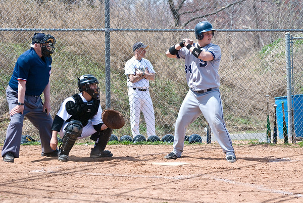 Mike McGowan (catcher, #24) at bat